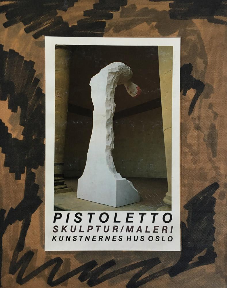 PISTOLETTO SKULPTUR/Malerei /  Kunstnernes Hus Oslo 1986