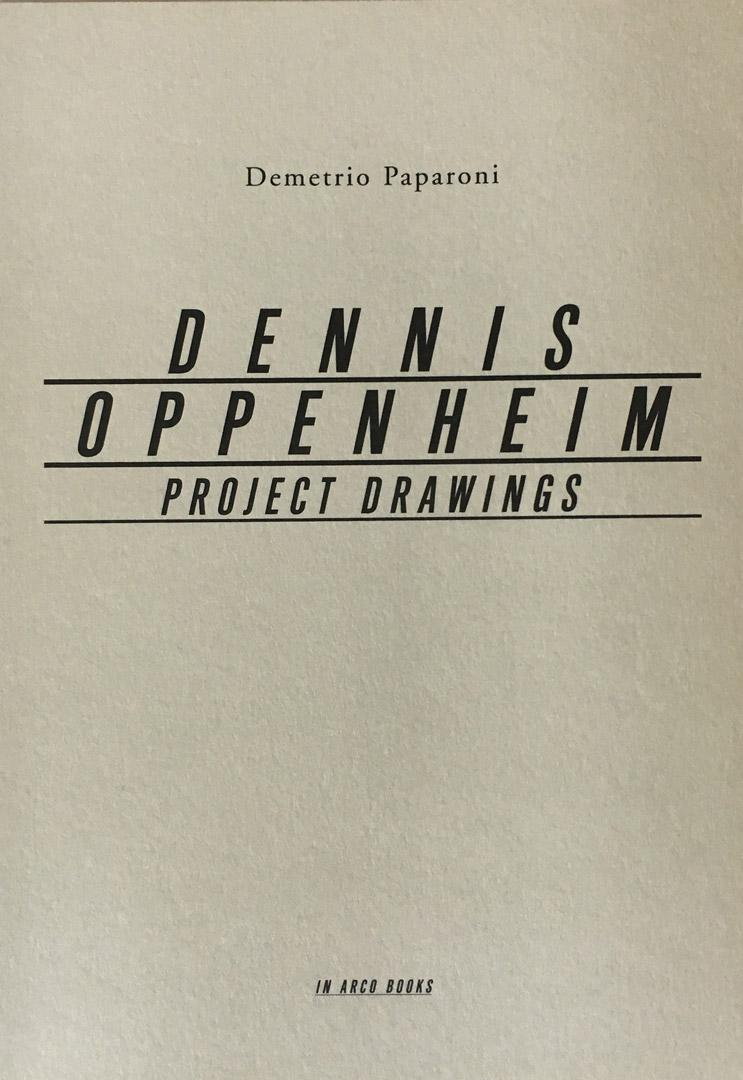DENNIS OPPENHEIM: PROJECT DRAWINGS 2005