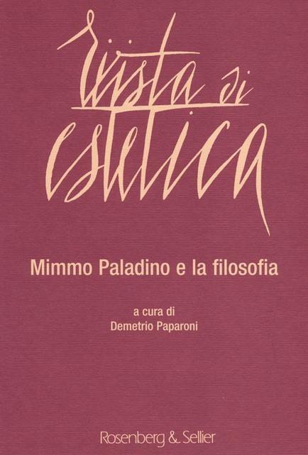 RIVISTA DI ESTETICA / Vol 55 /Mimmo Paladino e la filosofia / 2013